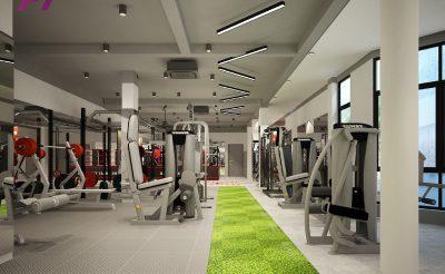 Mẫu thiết kế phòng Gym 180m2 ( 450 – 500 Triệu )