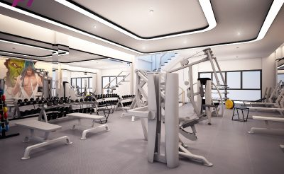 Mẫu thiết kế phòng Gym 150m2 ( 450 – 500 Triệu )