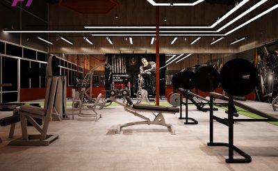 Mẫu thiết kế phòng Gym 200m2 ( 450 – 500 Triệu )