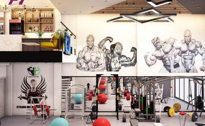 Mẫu thiết kế phòng Gym 250m2 ( 600-800 Triệu )