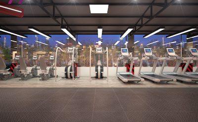 Mẫu thiết kế phòng Gym 350m2 ( 600 – 800 Triệu )