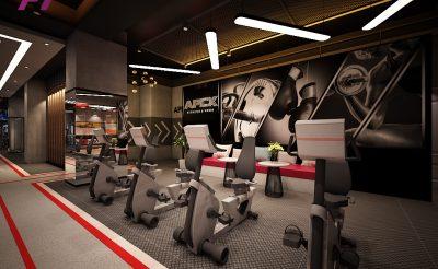 Mẫu thiết kế phòng Gym 400m2 ( 900 Triệu – 1.2 Tỷ )