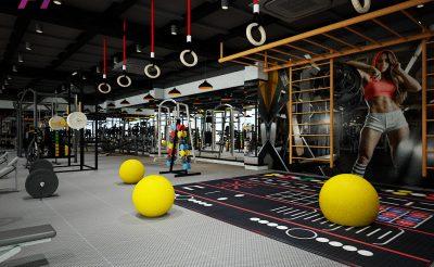 Mẫu thiết kế phòng Gym 500m2 ( 900 Triệu – 1.2 Tỷ )