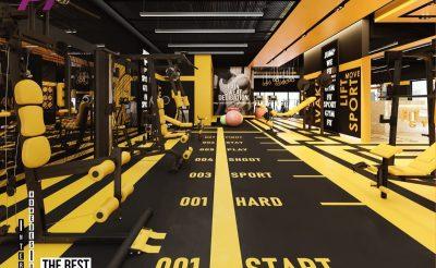 Mẫu thiết kế phòng Gym 450m2