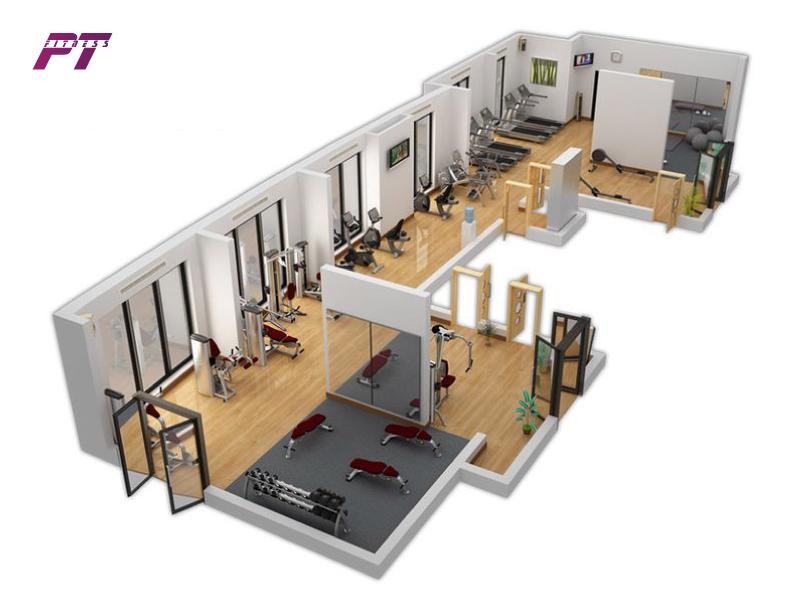 Ngân sách cho phòng gym từ 450-500 triệu