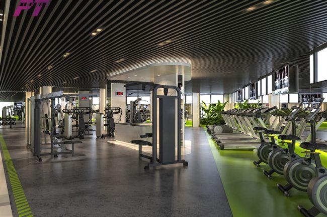 Mẫu thiết kế phòng Gym 550m2
