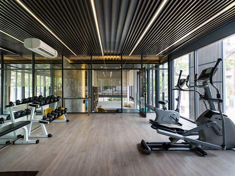 Mẫu thiết kế phòng gym resort đẹp thông thoáng