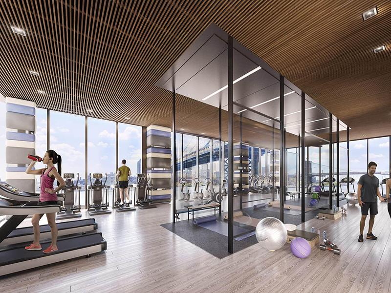 Mẫu thiết kế phòng gym đẹp với không gian mở