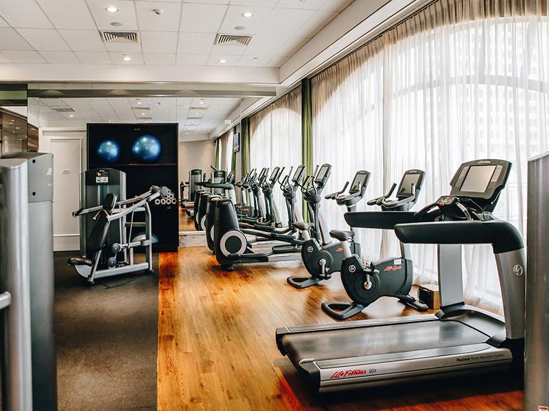 Phòng gym resort sang trọng