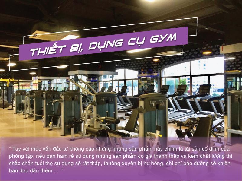 setup phòng gym 200tr