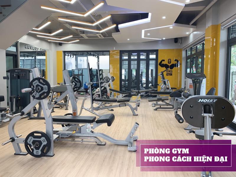 setup phòng gym 500 triệu với phong cách hiện đại