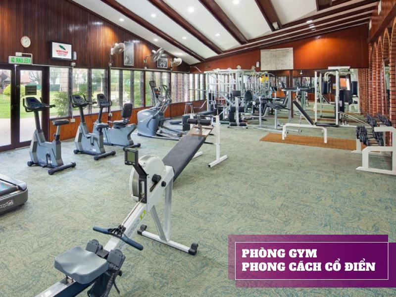 setup phòng gym 500 triệu theo thiên hướng hoài cổ