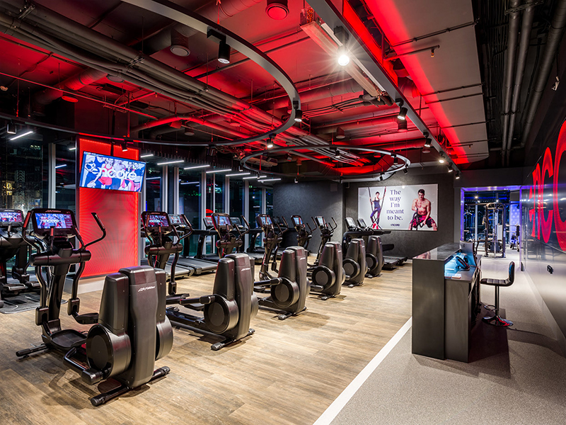 Mẫu thiết kế phòng gym khỏe khoắn, năng động