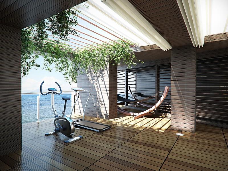 thiết kế phòng gym tại nhà