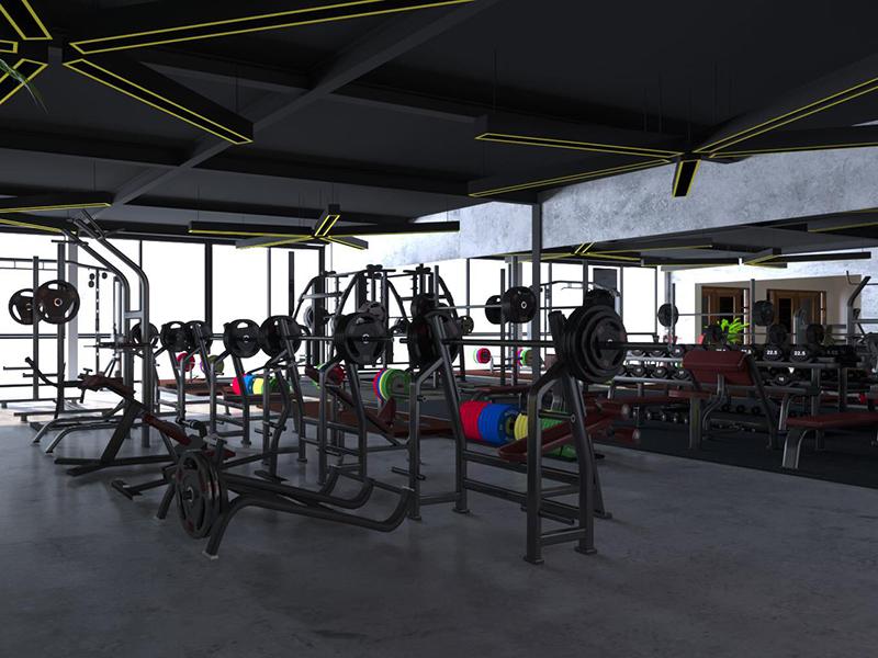 Sử dụng sản phẩm gia công trong setup phòng gym 200m2