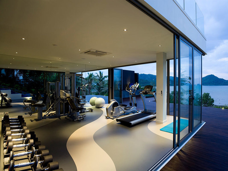 Mẫu thiết kế phòng gym tại nhà hiện đại với không gian mở