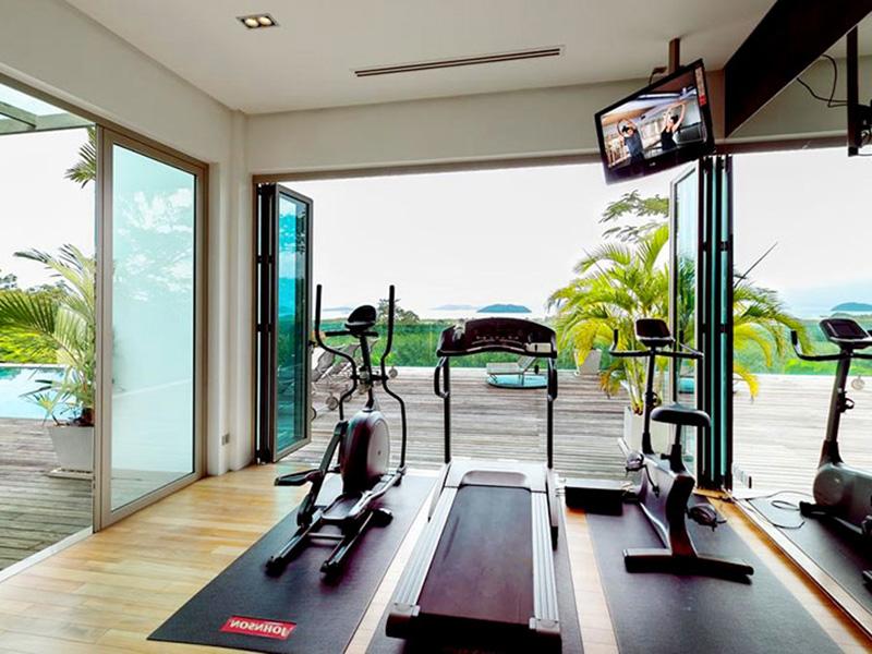 Mẫu thiết kế phòng gym nhà vườn sang trọng