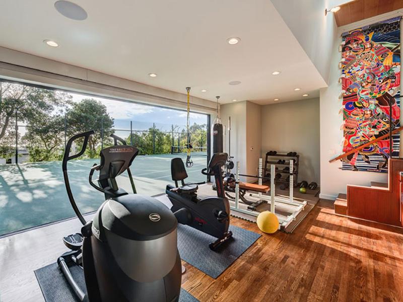Mẫu thiết kế phòng gym tại nhà hòa hợp với thiên nhiên