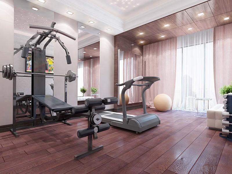 Mẫu thiết kế phòng gym tại nhà phong cách tân cổ điển