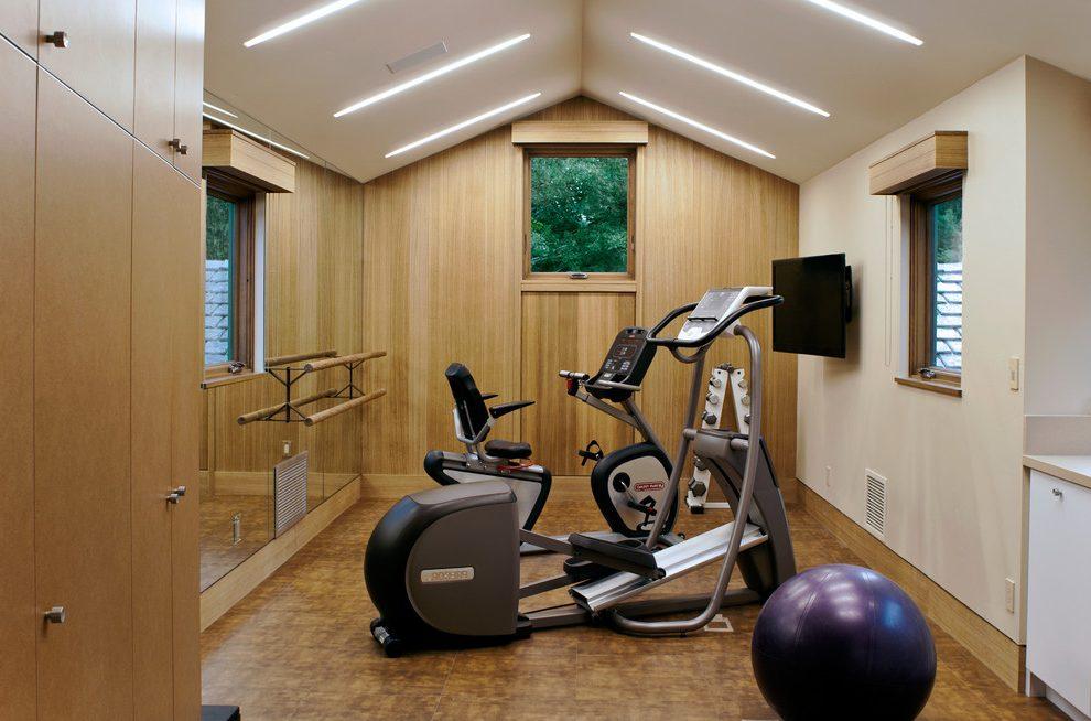 Mẫu thiết kế phòng gym đơn giản sang trọng