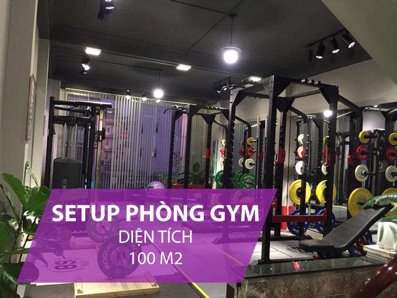 Giá setup phòng gym 100m2