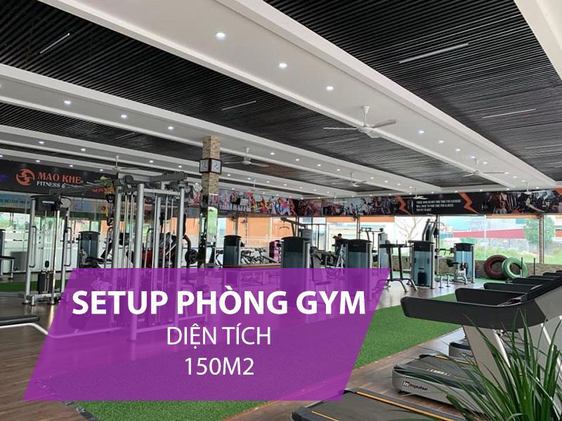Giá setup phòng gym 150m2
