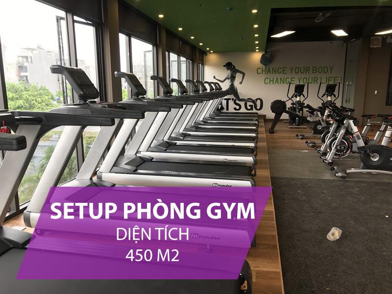 Giá setup phòng gym 450m2