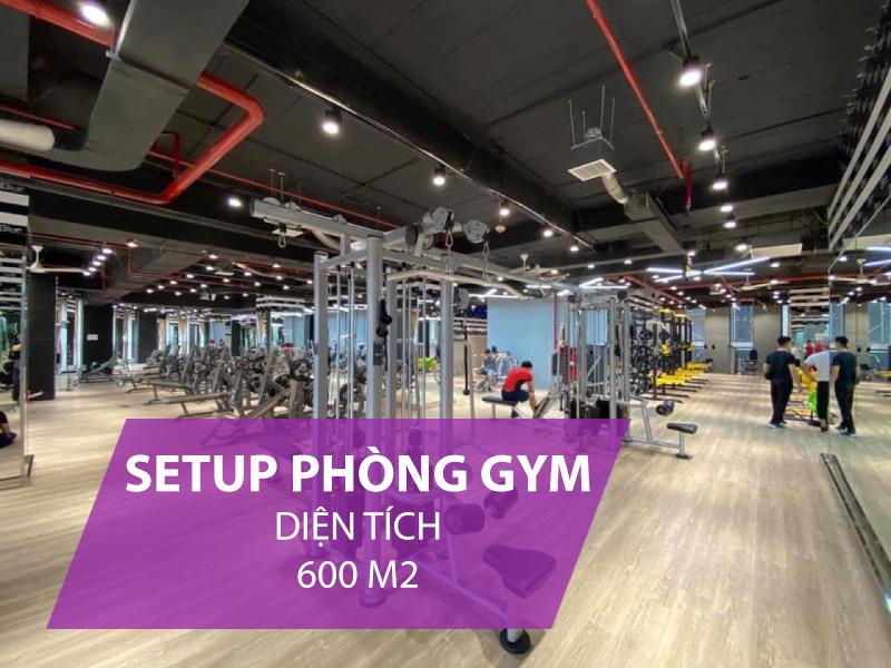 Giá setup phòng gym 600m2