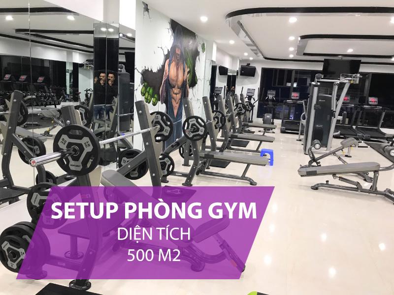 Giá setup phòng gym 500m2