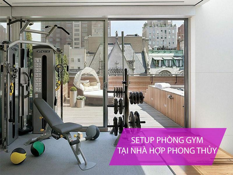 setup phòng gym tại nhà hợp phong thủy mệnh Thủy