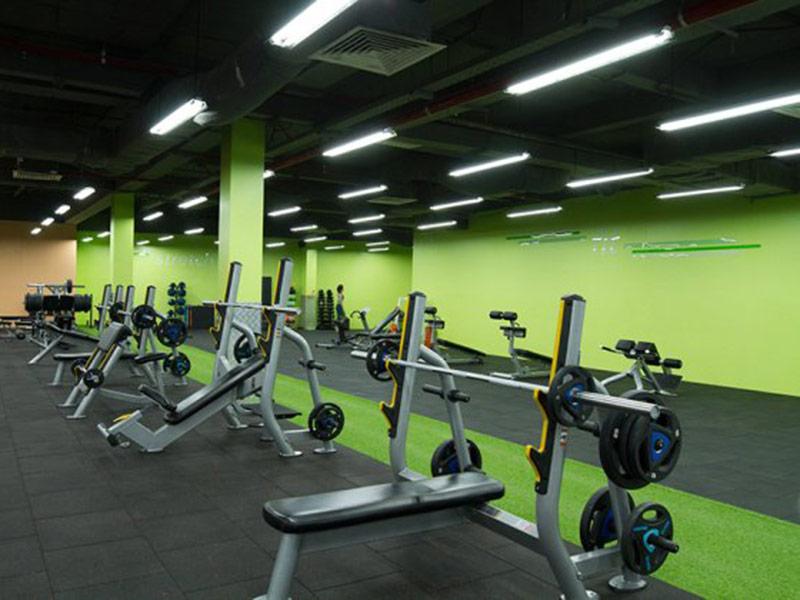 Mẫu thiết kế phòng gym màu xanh lá cây 3