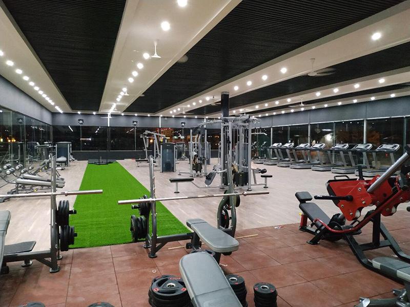 Phân bố các thiết bị trong không gian phòng gym