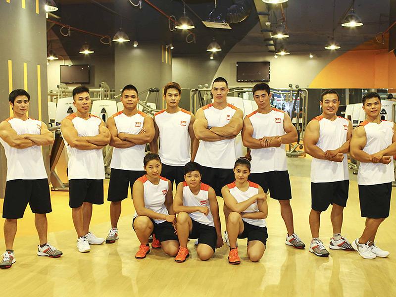 Đội ngũ nhân sự khi setup phòng gym 300m2