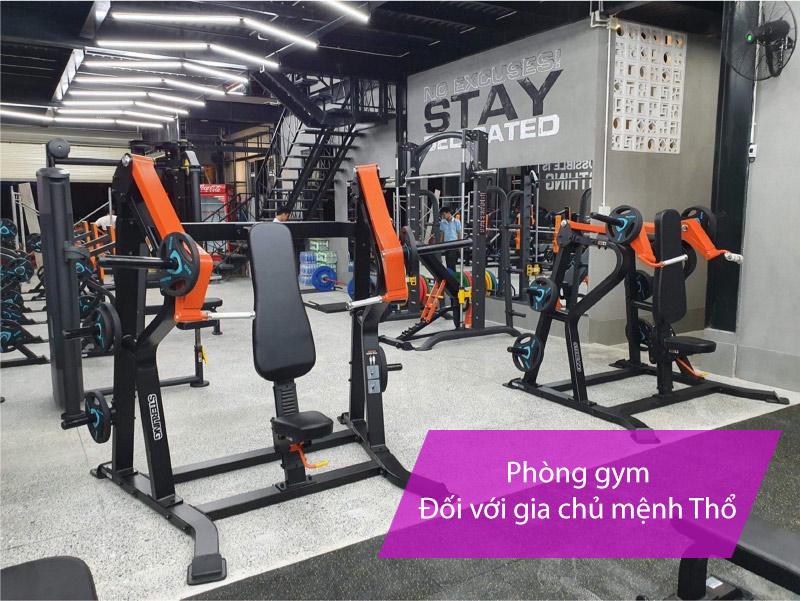 Setup phòng gym tại nhà hợp phong thủy mệnh Thổ
