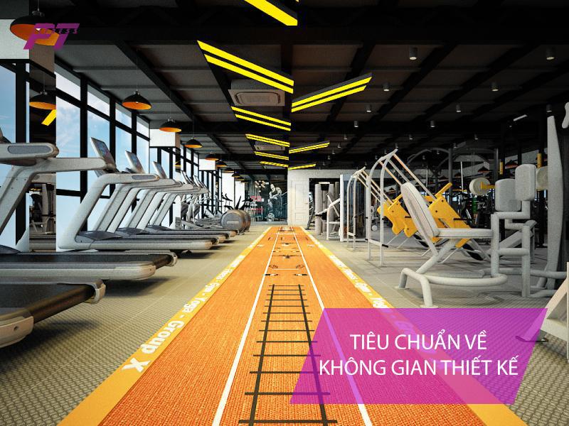 Tiêu chuản về không gian thiết kế phòng tập gym